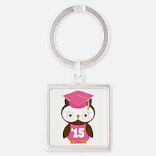 2015 Owl Graduate Class Square Keychain