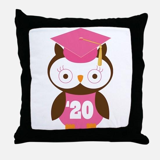 2020 Owl Graduate Class Throw Pillow