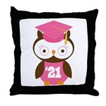 2021 Owl Graduate Class Throw Pillow