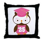 2025 Owl Graduate Class Throw Pillow