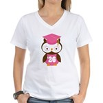 2026 Owl Graduate Class Women's V-Neck T-Shirt