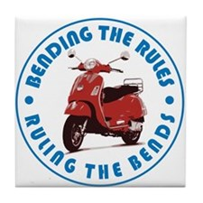 Ruling the Bends Tile Coaster