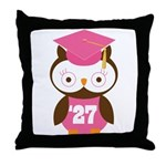 2027 Owl Graduate Class Throw Pillow