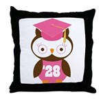 2028 Owl Graduate Class Throw Pillow