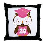 2029 Owl Graduate Class Throw Pillow