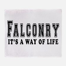 Falconry It's A Way Of Life Throw Blanket