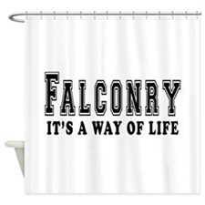 Falconry It's A Way Of Life Shower Curtain