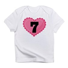 7th Birthday Big Heart Infant T-Shirt