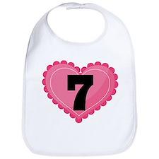 7th Birthday Big Heart Bib