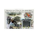 1-25 fallen 15:13 Rectangle Magnet (100 pack)