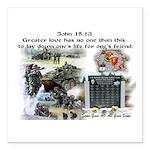 "1-25 fallen 15:13 Square Car Magnet 3"" x 3&qu"