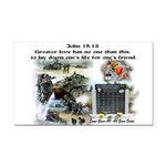 1-25 fallen 15:13 Rectangle Car Magnet