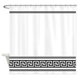 Art deco black and white geometric Shower Curtains