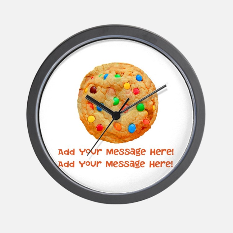 Personalize It, Chocolate Cookie Wall Clock