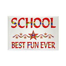 School Best Fun Rectangle Magnet