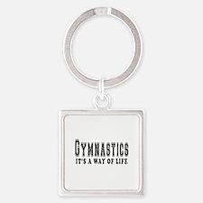 Gymnastics It's A Way Of Life Square Keychain
