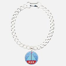 Sailboat in Blue Water Bracelet