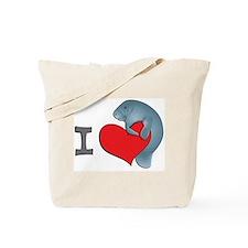 I heart manatees Tote Bag