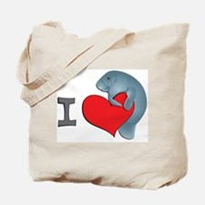 I heart manatees Tote Bag