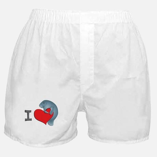 I heart manatees Boxer Shorts