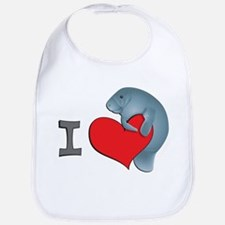 I heart manatees Bib