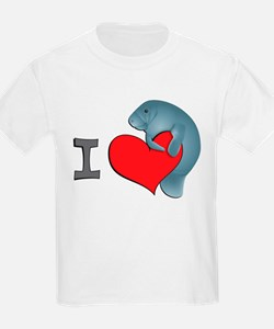 I heart manatees Kids T-Shirt
