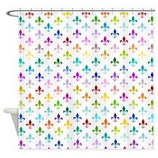Rainbow fleur de lis Shower Curtain