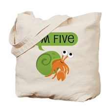5th Birthday Hermit Crab Tote Bag