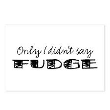 Didn't Say Fudge Postcards (Package of 8)
