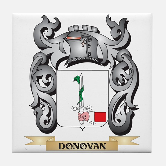 Donovan Coat of Arms - Family Crest Tile Coaster
