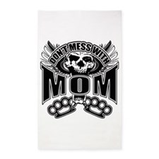 Don't mess with mom 3'x5' Area Rug