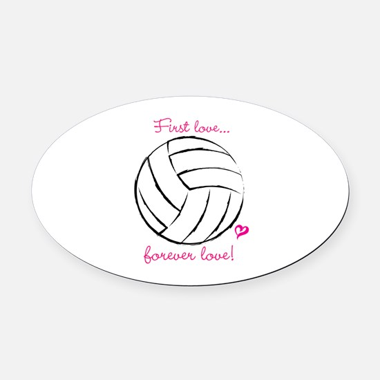 I Love Volleyball Car Magnets Cafepress