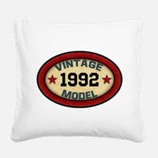 CUSTOM YEAR Vintage Model Square Canvas Pillow