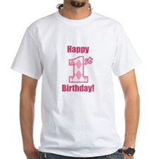 Happy 1st Birthday - Pink Argyle T-Shirt