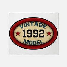 CUSTOM YEAR Vintage Model Throw Blanket