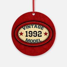 CUSTOM YEAR Vintage Model Ornament (Round)