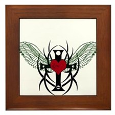 Love Flys into a Heart Framed Tile