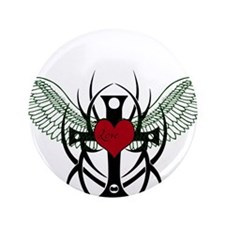 "Love Flys into a Heart 3.5"" Button (100 pack)"
