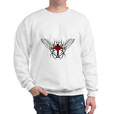 Love Flys into a Heart Sweatshirt