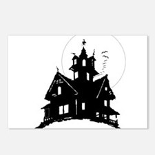 haunted house Postcards (Package of 8)
