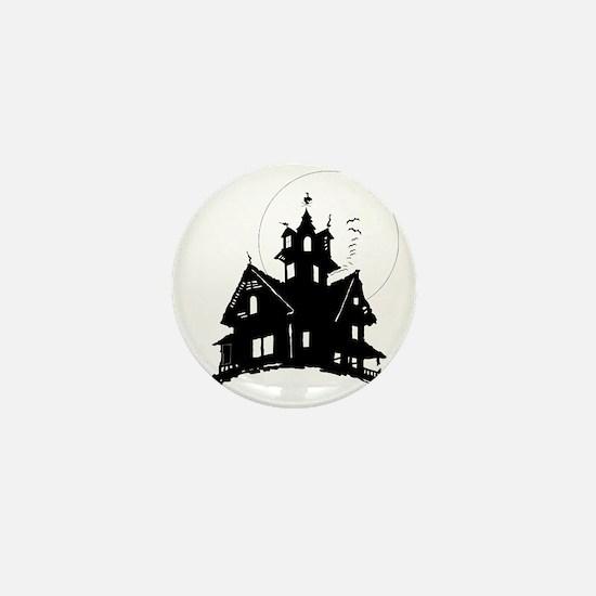 haunted house Mini Button
