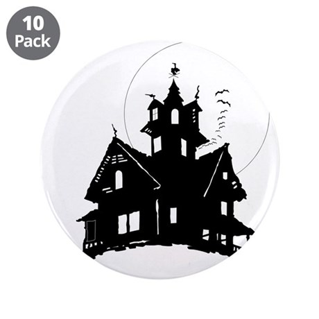 "haunted house 3.5"" Button (10 pack)"