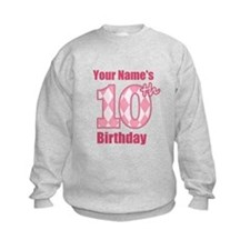 Pink Argyle 10th Birthday - Personalized! Sweatshi
