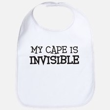 my cape is invisible kids Bib