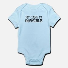 my cape is invisible kids Infant Bodysuit
