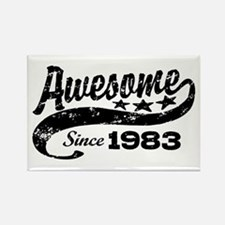 Awesome Since 1983 Rectangle Magnet