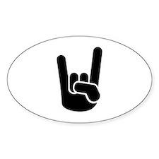 Rock Metal Hand Decal