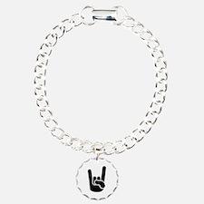 Rock Metal Hand Charm Bracelet, One Charm