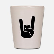 Rock Metal Hand Shot Glass