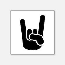 "Rock Metal Hand Square Sticker 3"" x 3"""